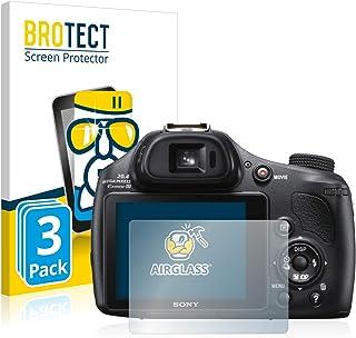 BROTECT Protector Pantalla Cristal Compatible con Sony Cyber-Shot DSC-HX400V Protector Pantalla Vidrio (3 Unidades) Dureza 9H AirGlass