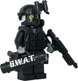 Modern Brick Warfare SWAT Police Officer Breacher Custom Minifigure