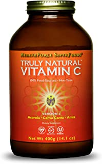 HealthForce SuperFoods Truly Natural Vitamin C - 400 Grams - Whole Food, Organic Vitamin C Complex from Acerola Cherry Pow...