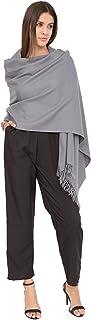 likemary 100% Merino Wool Pure Pashmina Scarf Womens Wrap Shawl - Fairtrade Lightweight Travel Blanket Ethical Gift Kasa