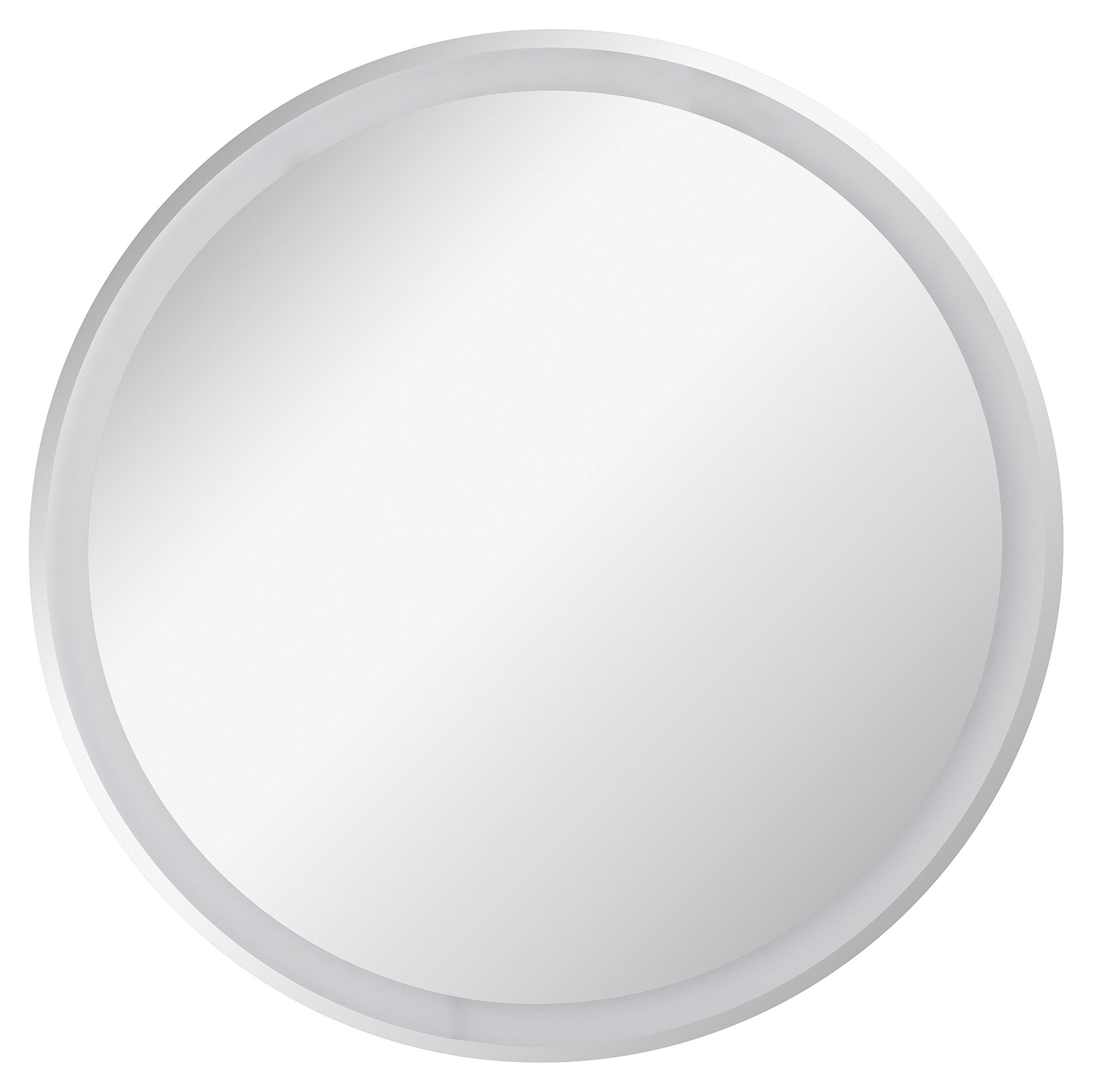 Redondo 40 cm CustomGlass Espejo de Pared Redondo con iluminaci/ón led en Varias Medidas con Forma Circular