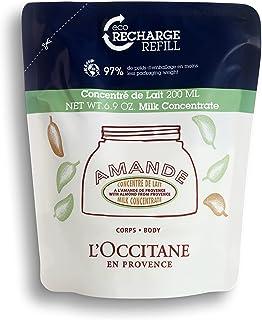 L'Occitane Almond Milk Concentrate Eco Refill, 200 ml, Firming Body Moisturiser