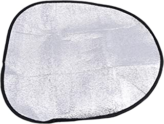 Winwinfly Double Aluminum Foil Thick Steering Wheel Cover Sun Shade for Most Vehicle Car Accessories Cover