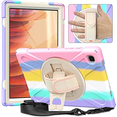 Samsung Galaxy Tab A7 Case 2020 for Kids  ABOUTTHEFIT SM-T500/T505/T507 Samsung A7 Tablet Case Full Body Shockproof Rugged Hard Cover for 10.4 Inch Tab A7 w/Stand Hand Strap Shoulder Strap  Baby Pink