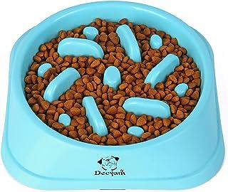 Decyam Gamelle Anti Glouton Chien Gamelle d'alimentation Lente avec Base Antidérapante Favorise Une Alimentation Saine Et ...