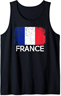 French Flag Design   Vintage Made In France Gift Tank Top