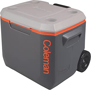 Coleman コールマン クーラーボックス エクストリーム 50QT (47.3L) / 50 Quart Xtreme® 5 Wheeled Cooler / 3000002005 GREY x ORANGE [並行輸 入品]