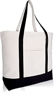 Best black and white canvas tote bag Reviews