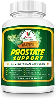 Saw Palmetto Supplement with Pygeum, Cranberry, Pumpkin Seeds, Reishi and White Button Mushrooms for Prostate and Urinary ...