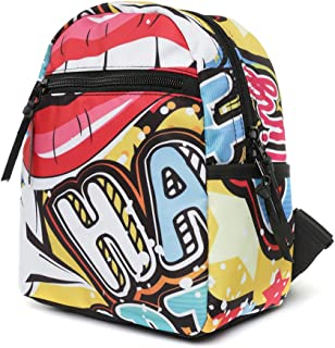 KEDDO Small Fancy Stylish & Youthful Backpack Polyester Colorful Print Backpack For Woman. College/University Rucksack