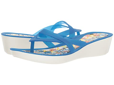 8b26eb589c78 Crocs Isabella Print Wedge Flip at 6pm