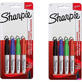4 Count Fine Point Assorted Colors 35113PP SHARPIE Mini Permanent Markers