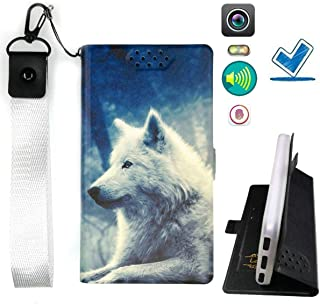 Lovewlb Case for Blu Vivo Go V2.0 Cover Flip PU Leather + Silicone Ring case Fixed LANG