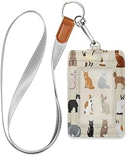 HMZXZ Adorable porte-badge d'identification en cuir synthétique avec cordon détachable pour animal de compagnie et chat, p...