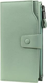 Itslife Women's RFID Blocking Large Capacity Luxury Wax Genuine Leather Clutch Wallet Card Holder Organizer Ladies Purse L...