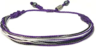 Asexual Bracelet Woven Asexual Flag Aces Pride String Bracelet - RUMI SUMAQ Awareness Jewelry for Men and Women