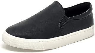 Top Shoe Reign Women's Closed Toe Slip on Sneaker Loafer