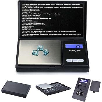 iitrust Digital de Bolsillo para Joyería con Pantalla LCD, Balanza electronica de joyas, Balanza De Precision Con Función De Contador 100g~0.01g
