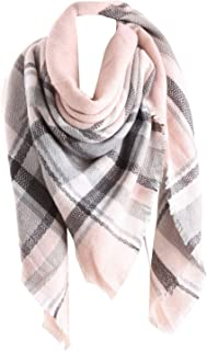 pink grey tartan scarf
