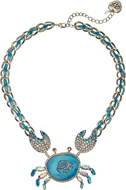Betsey Johnson - Blue Crab Pendant Necklace