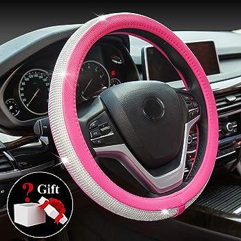 Pink Bell Automotive 22-1-97048-9/Universal Shaggy Hyper-Flex Core Steering Wheel Cover