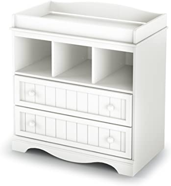 South Shore  Savannah 2-Drawer Changing Table, Pure White