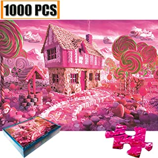Jigsaw Puzzles 1000 Pieces Artwork Art for Teen Adult Grown Up Puzzles Large Size Toy Educational Games Gift Jigsaw Puzzle Jigsaw Puzzle 1000 PCS Toys Games Entertainment (Pink Candy house)