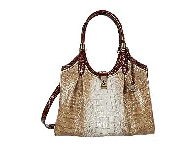 Brahmin La Sierra Celia Satchel (Praline) Handbags