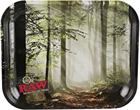 RAW Smokey Forest Trees Metal Rolling Tray (Large 13.5
