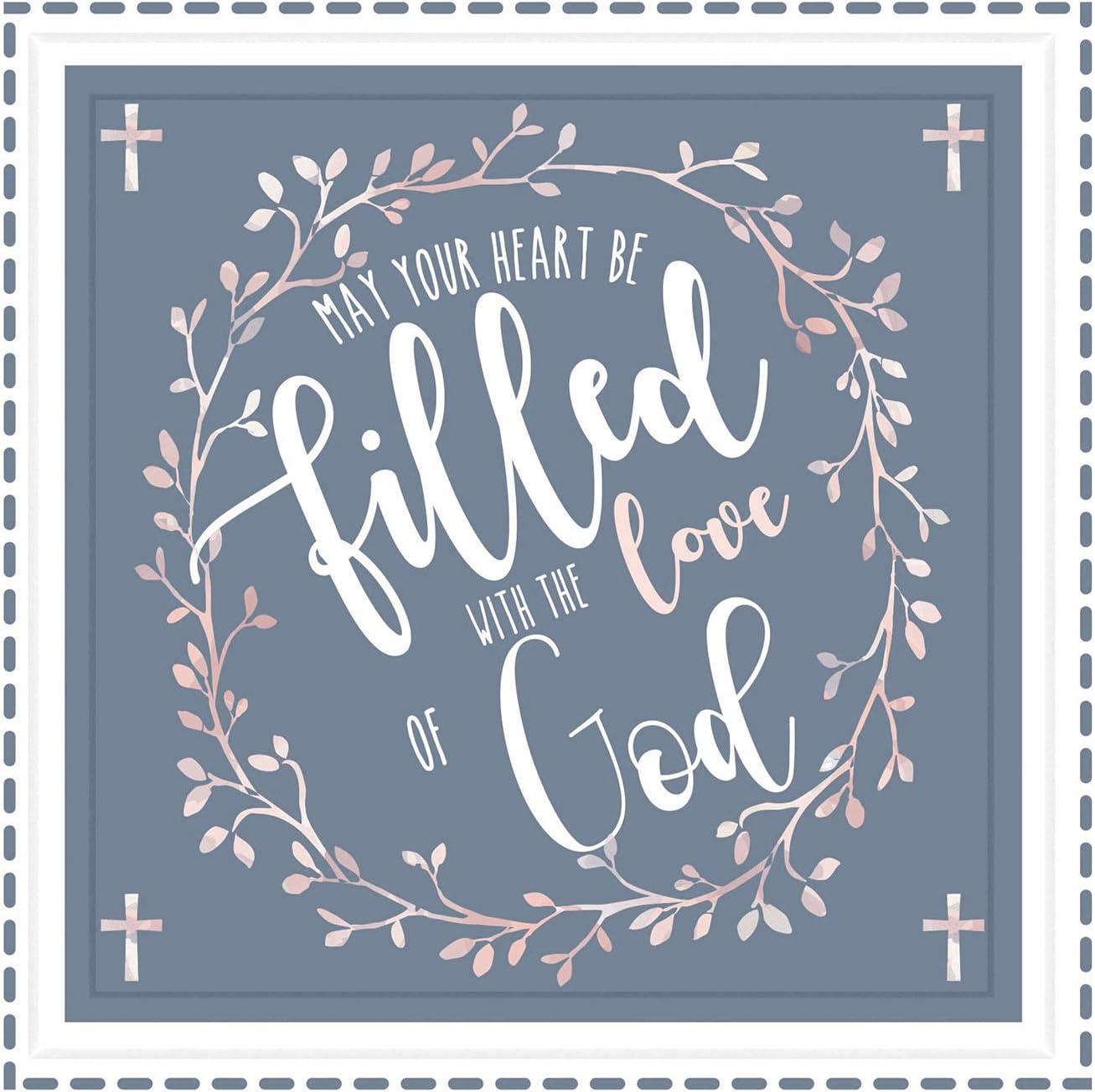 Baptism Gifts | 7X7 Tile Artwork | Christening Decoration for Boys & Girls | Godparents Catholic Gift | Ideal Present for Goddaughter & Godson | Beautiful Art for Baby Baptisms