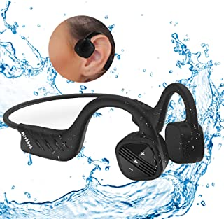 $62 » Sponsored Ad - Waterproof Bone Conduction Headphones for Swimming,IPX8 Open-Ear 8GB MP3 Player Wireless Bluetooth Sports S...