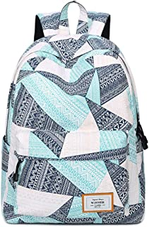 Waterproof Thicken Student Schoolbag, Fashion Casual Geometric Print Pattern Comfort Effort Backpack, Girl Boy Middle School Student Polyester Schoolbag,M