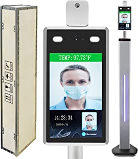 Face Recognition Temperature Measurement Scanner with Face Comparison Library, Non-Contact Automatic Infrared Body Tempera...