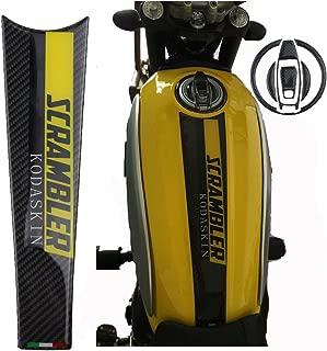PRO-KODASKIN Motorcycle Carbon Tank Pad Protection Sticker for Ducati Scrambler Full Throttle