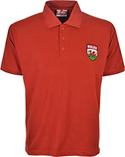 Activewear Wales Euro 2016 Football Polo Shirts Size S to 3XL