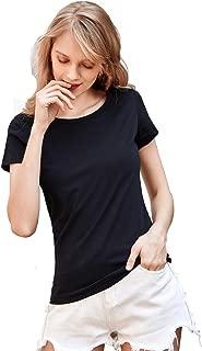 Women's Short-Sleeve Crewneck T-Shirt Cotton Undershirts