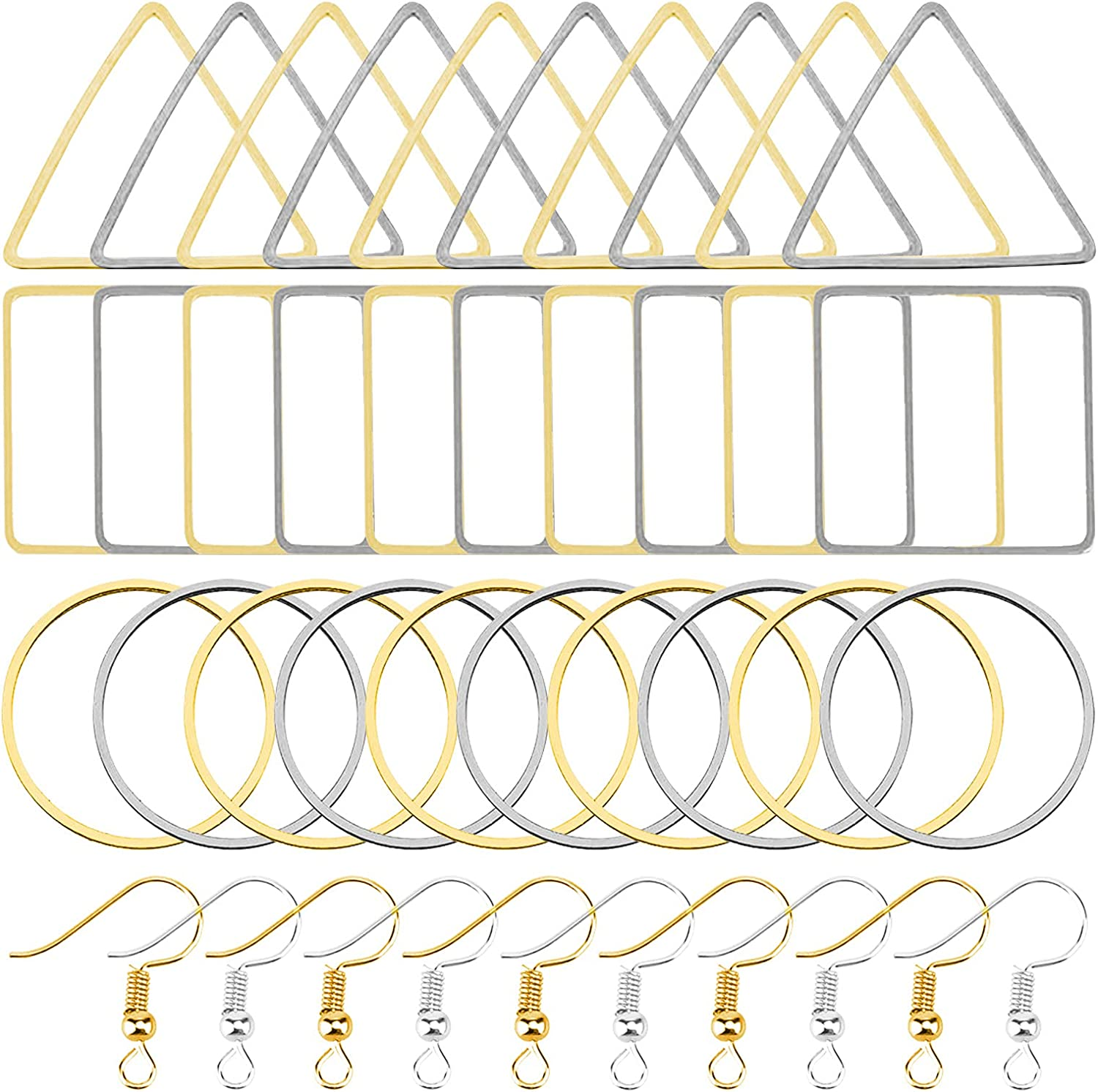 60pcs Earrings Beading Hoop and French Ranking TOP6 Earring 100pcs Wire Fashionable Hooks