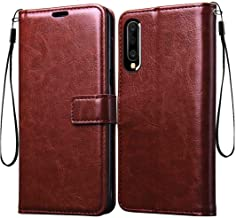 Frazil Vintage Flip Cover Case for Samsung Galaxy A70 Leather | Inner TPU | Foldable Stand | Wallet Card Slots - Walnut Brown