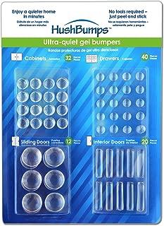 HushBumps Ultra-Quiet Gel Bumpers. 104 Piece Value Pack. Contains Cabinet, Door, Sliding Door & Drawer Bumpers. Just Peel & Stick!