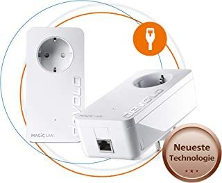 Devolo 8411Magic 1LAN: Potenza sfaehiges Power Line Starter Kit con fino a 1200Mbit/s per la rete domestica, con presa ...