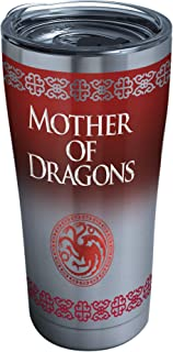 Tervis 1265655 HBO Game of Thrones - Mother of Dragons Insulated Travel Tumbler with Wrap, 16 oz - Tritan, Clear 20 oz - S...
