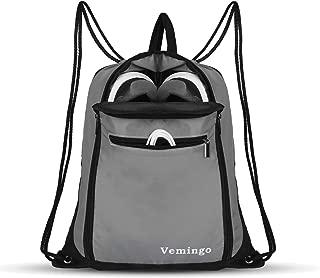 [Vemingo] ドローストリングバックパックバッグ、メンズ&女性ドローストリングジムサックシンチバッグバックパックジムサックサック防水