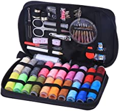 ELEPHANTBOAT® Sewing Kit Bundle with Scissors Thread Needles Tape Measure Carrying Case and Accessories