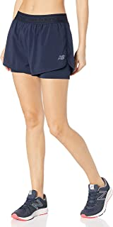 new balance Men's Relentless 2IN1 Short 55% Recycled, 45% Polyester