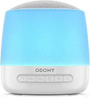 ODOMY White Noise Machine with 28 HiFi Soothing Sounds Sleeping Sound Machine for Baby Kids Adult 14 Modes Touch Control Night Light Memory Function Sleep Therapy Sound Machine