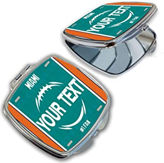 BRGiftShop Customize Your Own Football Team Miami Compact Pocket Cosmetic Mirror