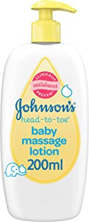 Johnson's Baby, Baby Lotion, Head-To-Toe, Massage Lotion,200Ml