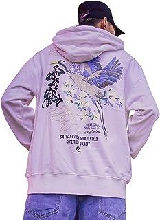 XYXIONGMAO Trend Street Men's Japanese Hoodie Crane Graphic Couples Hoodies Streetwear