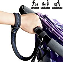 Baby Stroller Safety Wrist Strap or Large Dog Leash, Black with Blue