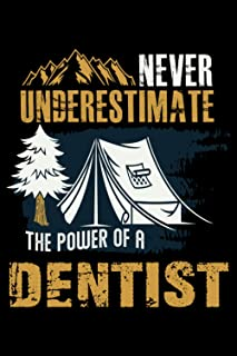 Never Underestimate The Power Of A Man Who Is A Dentist: Perfect Gift Idea For A Top Secret Dentist Blank Lined Notebook J...